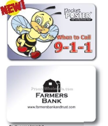Pocket Poster - When To Call 9-1-1