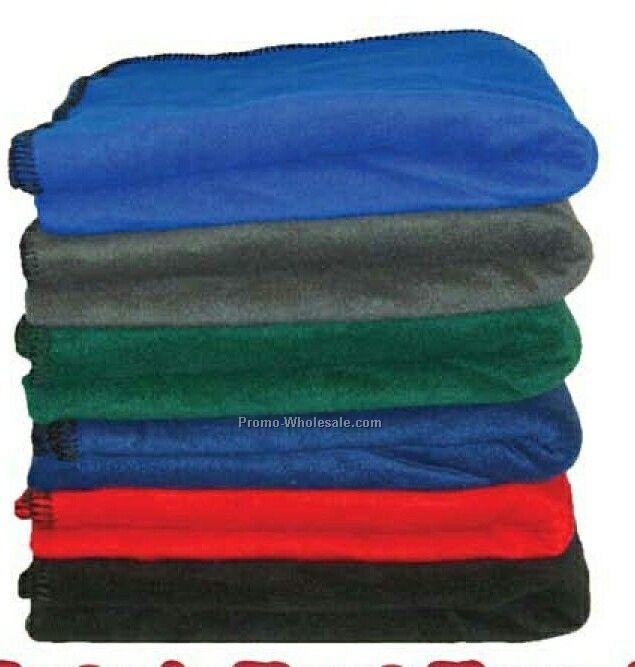 Premium Fleece Stadium Blanket With Heavy Gauge Whip-stitch Edge