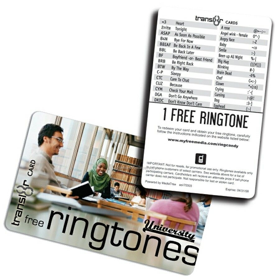 Transl8r Ringtone Combo Card With 1 Free Ringtone Download