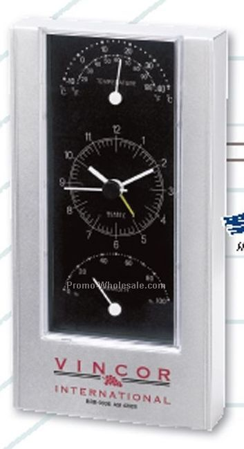 "Weather Station Alarm Clock - 6-1/2""x3-1/2""x1/4"""
