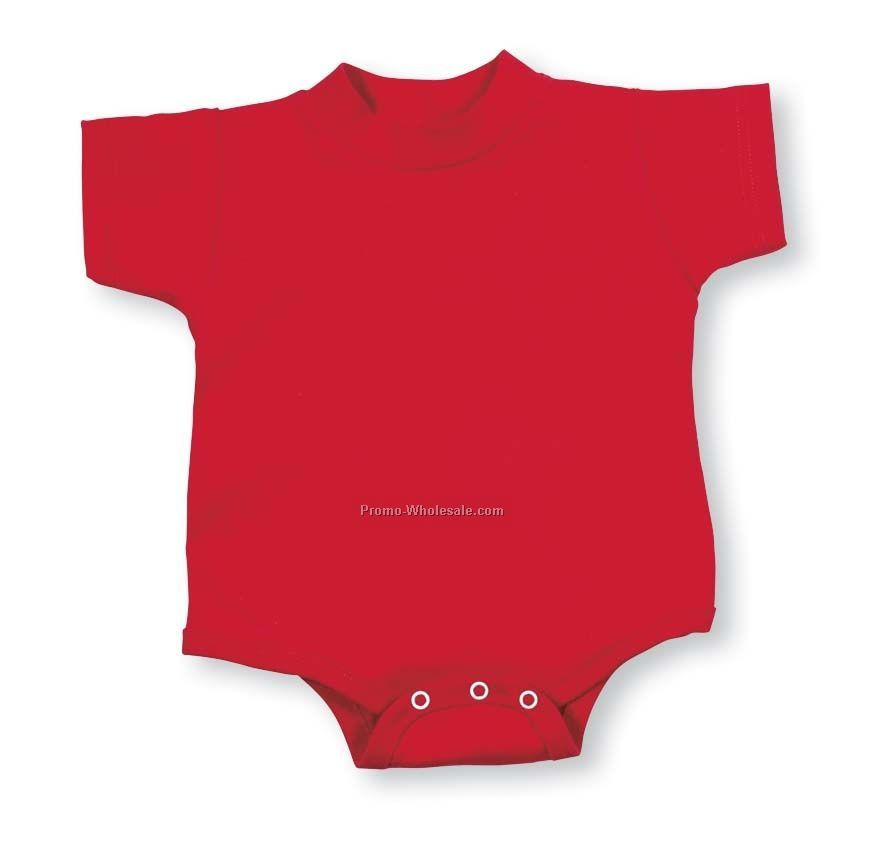 White Infant Jersey Short Sleeve Creeper