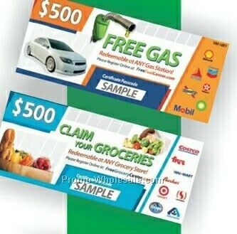 $500.00 Grocery Card-incentive Program