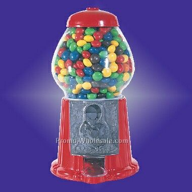 "11-1/2"" Standing Gumball Machine (Screened)"