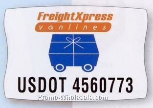 "12-1/4""x18-1/2"" Rectangle Truck Sign & Equipment Decal W/ Square Corner"