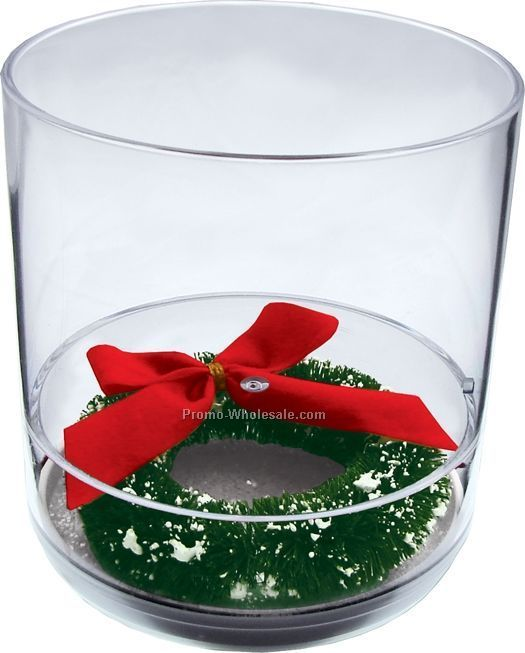 12 Oz. Happy Holidays Compartment Tumbler Cup