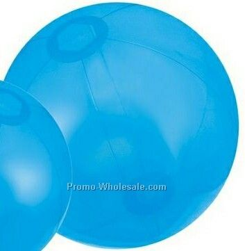 "16"" Inflatable Translucent Blue Beach Ball"
