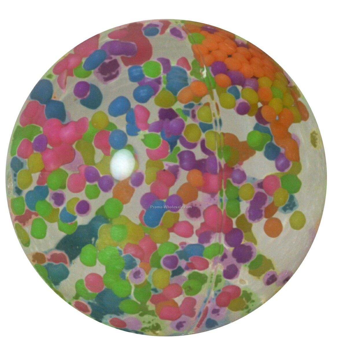 "2-3/4"" Hi-bounce Confetti Water Ball"