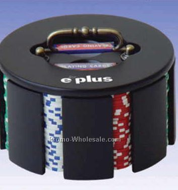 200 Piece Revolving Poker Chip Case (Chips Not Included) - Engraved