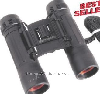 "3-1/4""x4-3/4""x1-1/4"" Compact 10x25 Binoculars With Nylon Case"