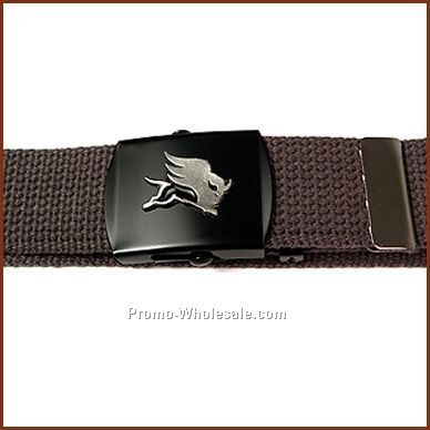 "42"" Web Belt & Military Buckle W/1"" Emblem (1 Colorfill)"