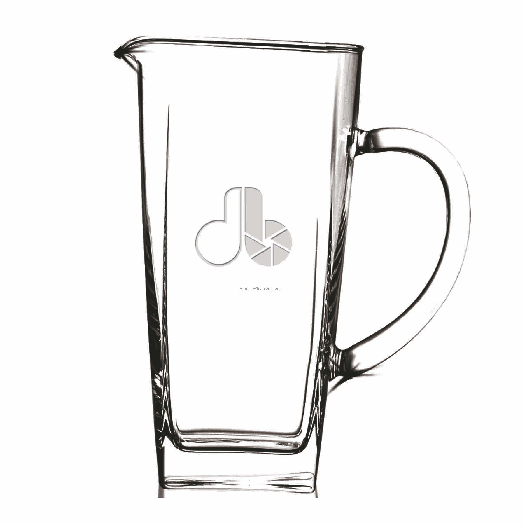 43 Oz. Crystal Sterling Pitcher (Deep Etch)