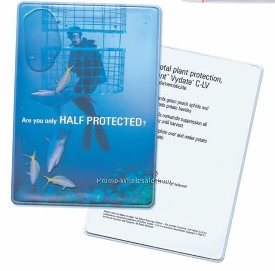 "5-3/4""x4"" Liquid Filled Promotion Card (1 Color)"
