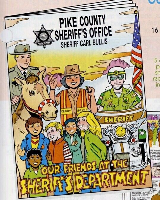 "8""x10-5/8"" 16 Page Coloring & Fun Book (Our Friends At The Sheriffs)"