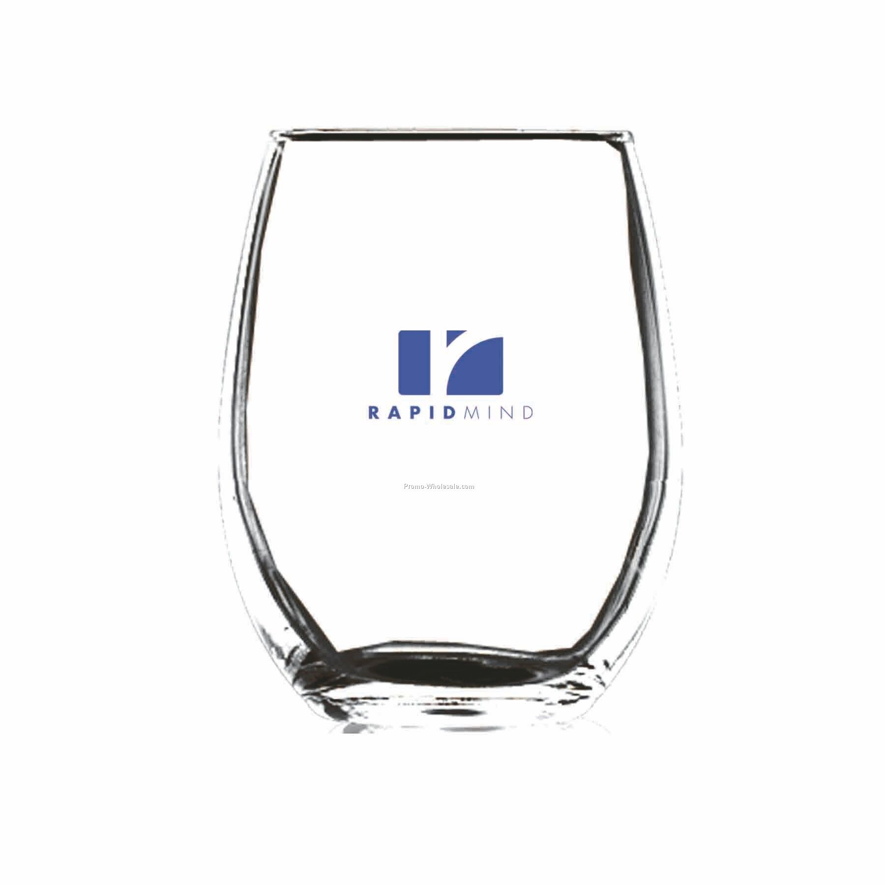 9 Oz. Optical Crystal Stemless White Wine Glass (Printed)