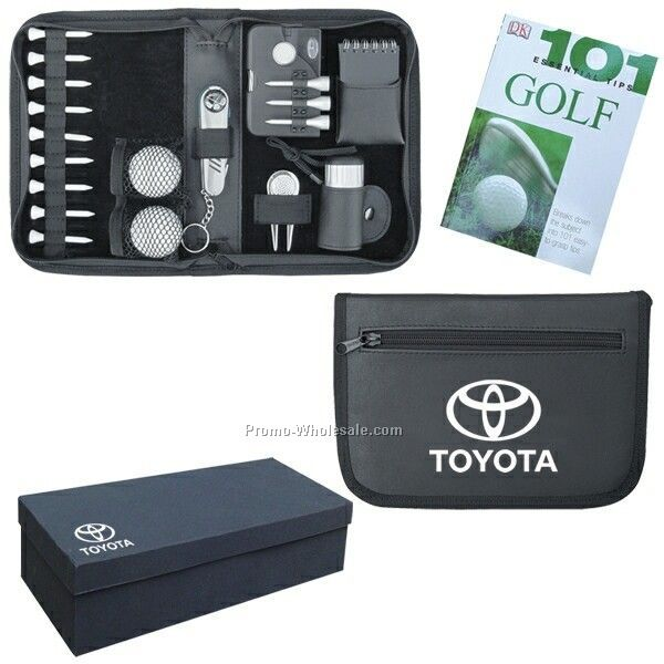 "9""x6""x2"" Fully Featured Golf Accessory Pack (Imprinted)"