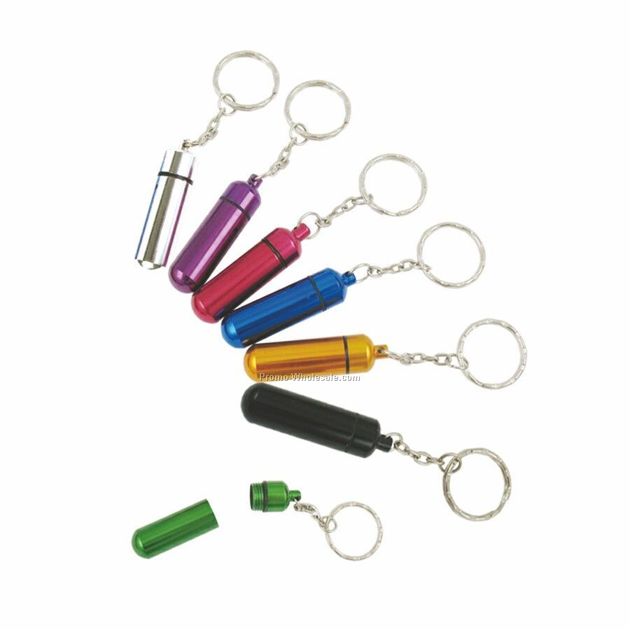 Aluminum Pill Tube W/Key Chain