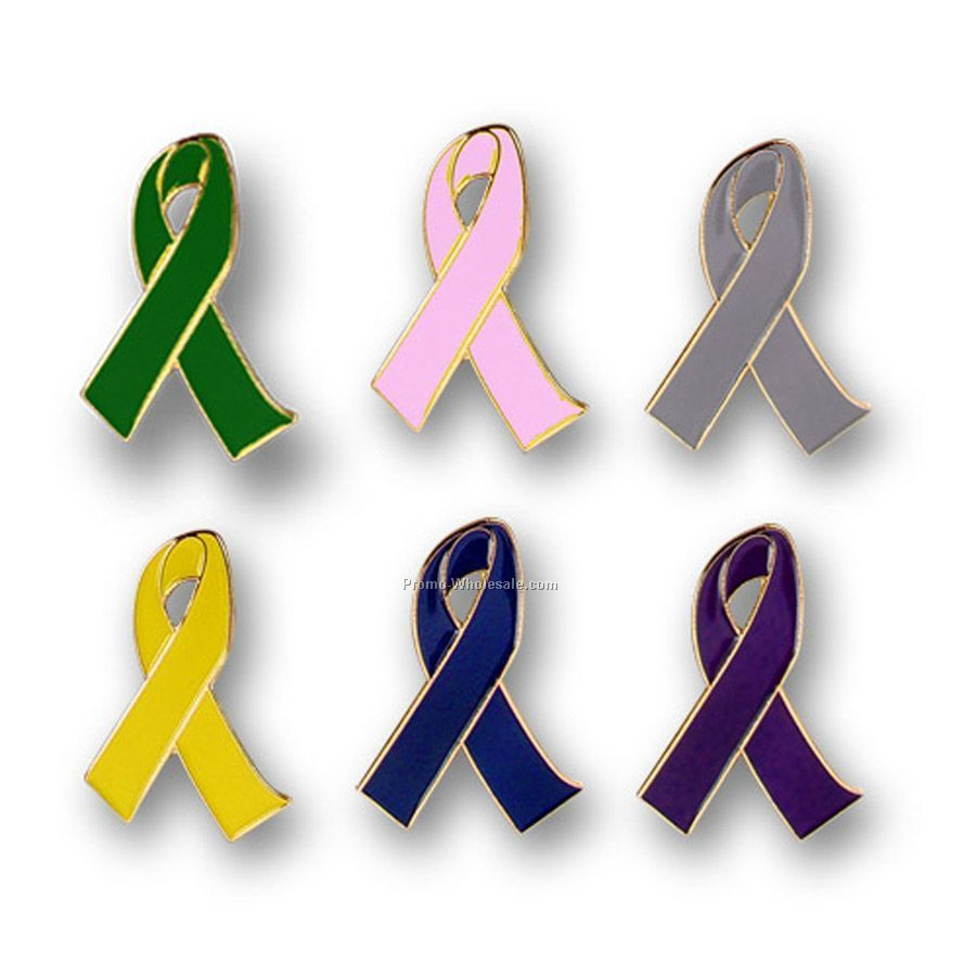 Awareness Ribbon 2-dimensional Lapel Pin