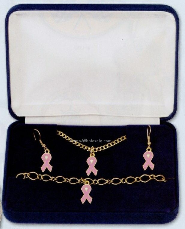 Boxed Gift Set With Earrings/ Bracelet/ Necklace