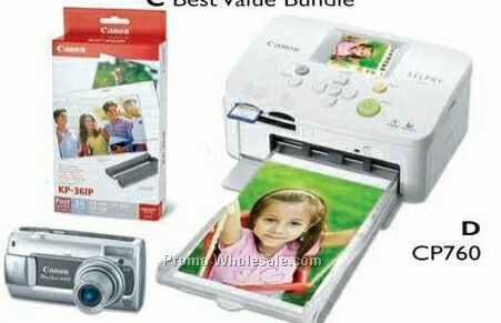 Canon Best Value Bundle Includes A470 Camera / Cp760 Printer / Paper & Ink