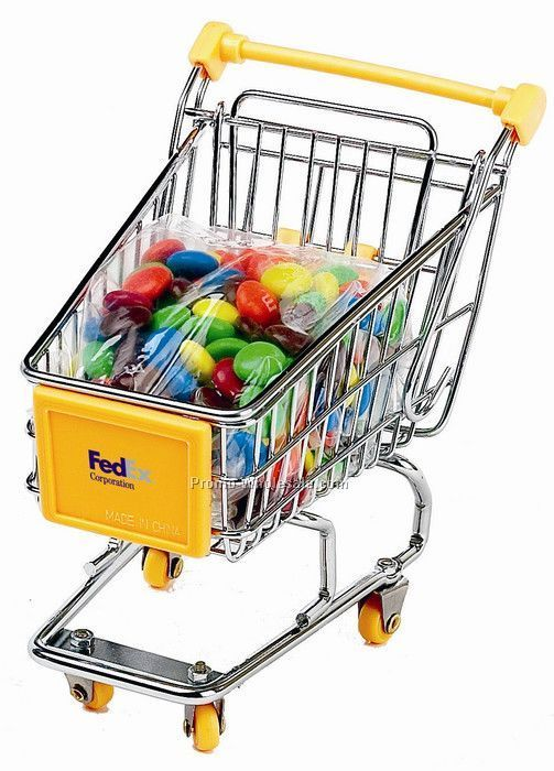Dlk Mini Shopping Cart With M&M`s