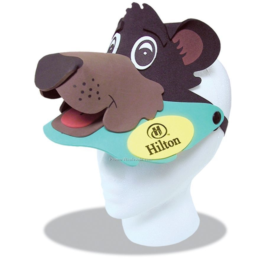 Foam Animal Sun Visor - Bear