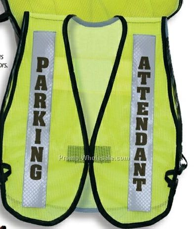 Front Opening Visi Vest (2 Imprint) - Rescue