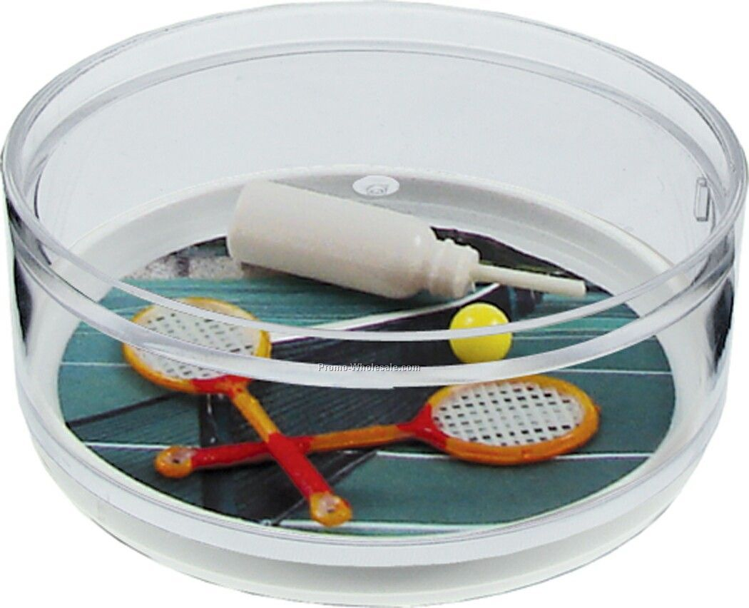 Game Set Match Compartment Coaster Caddy