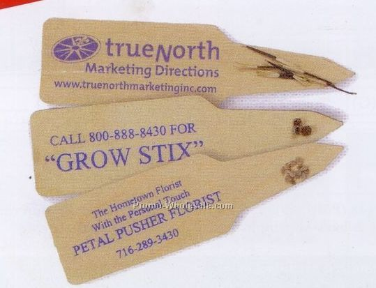 Grow Stix W/ Natural Wood Base (Shasta Daisy Seeds)