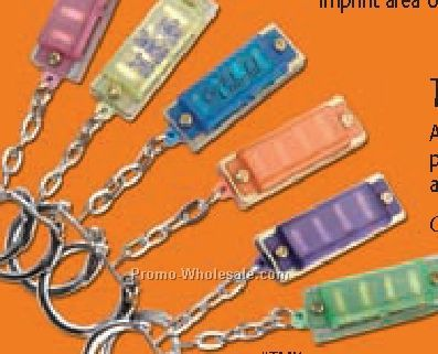 Hohner Translucent Mini Harmonica Key Chains (Blank)