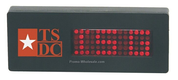 Light-up LED Rectangle Message Name Tag