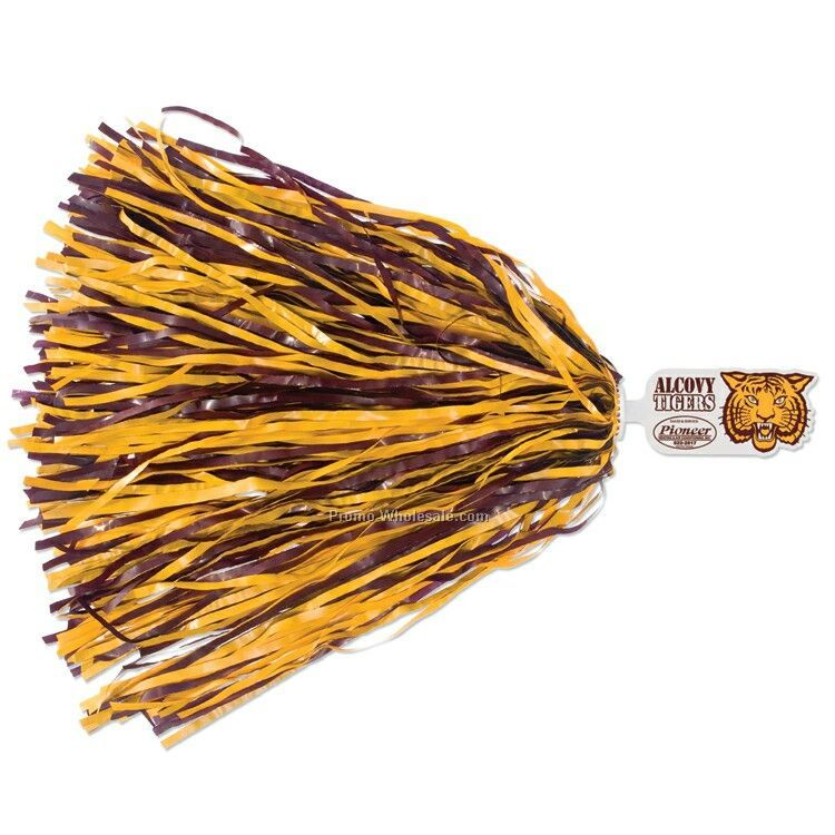 Mascot Pom Poms W/ Up To 4 Mixed Steamer Color - Tiger End