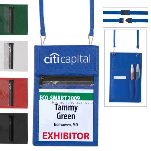 Nonwoven Trade Show Badge Holder