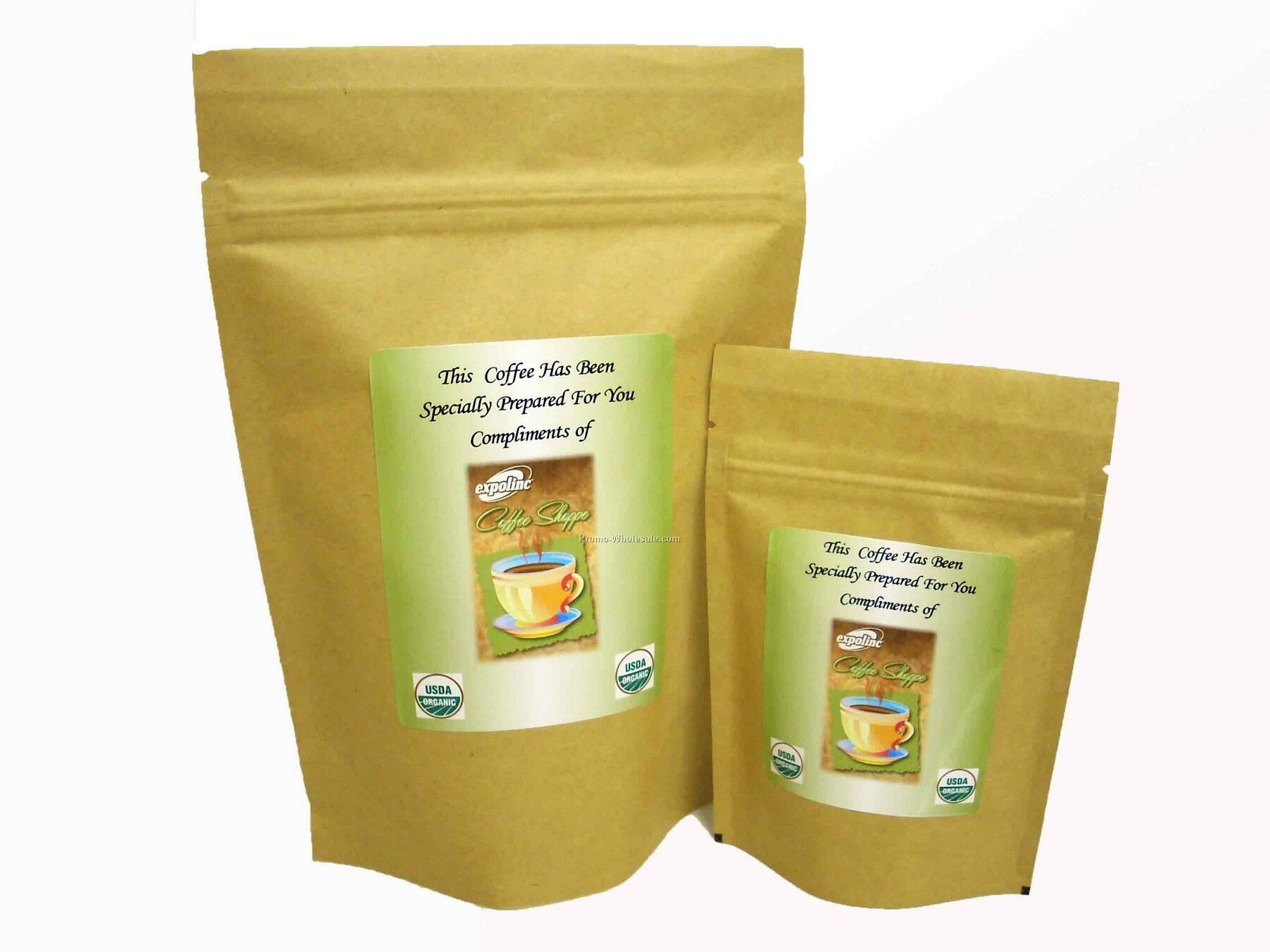 Organic Coffee - Individually Personalized - 8 Oz. Gift Packs