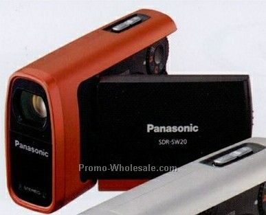 Panasonic Red Water Shock & Dustproof Compact Sd Camcorder