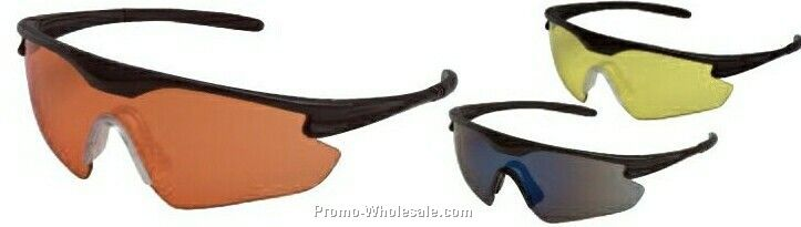 Point Protective Eyewear Side Tapered Lens (Black Frame/ Amber Lens)