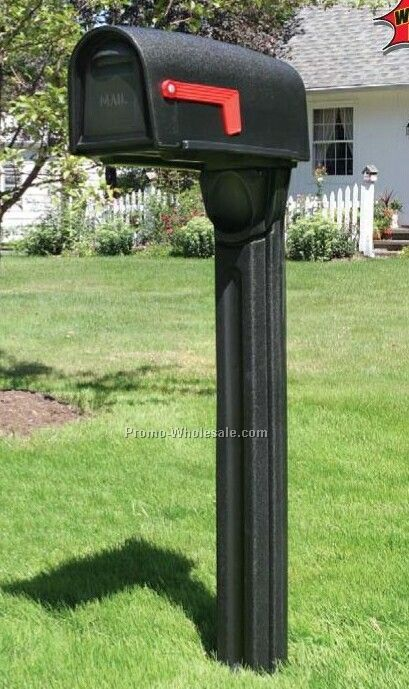 Postmax Mailbox Planter Accessory - Black