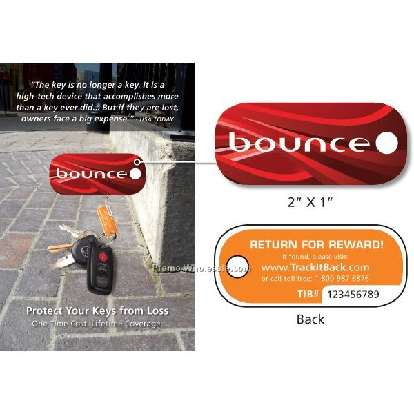 "Recovery Key Tag 2"" By 1"" W/ Standard Instructions Card"
