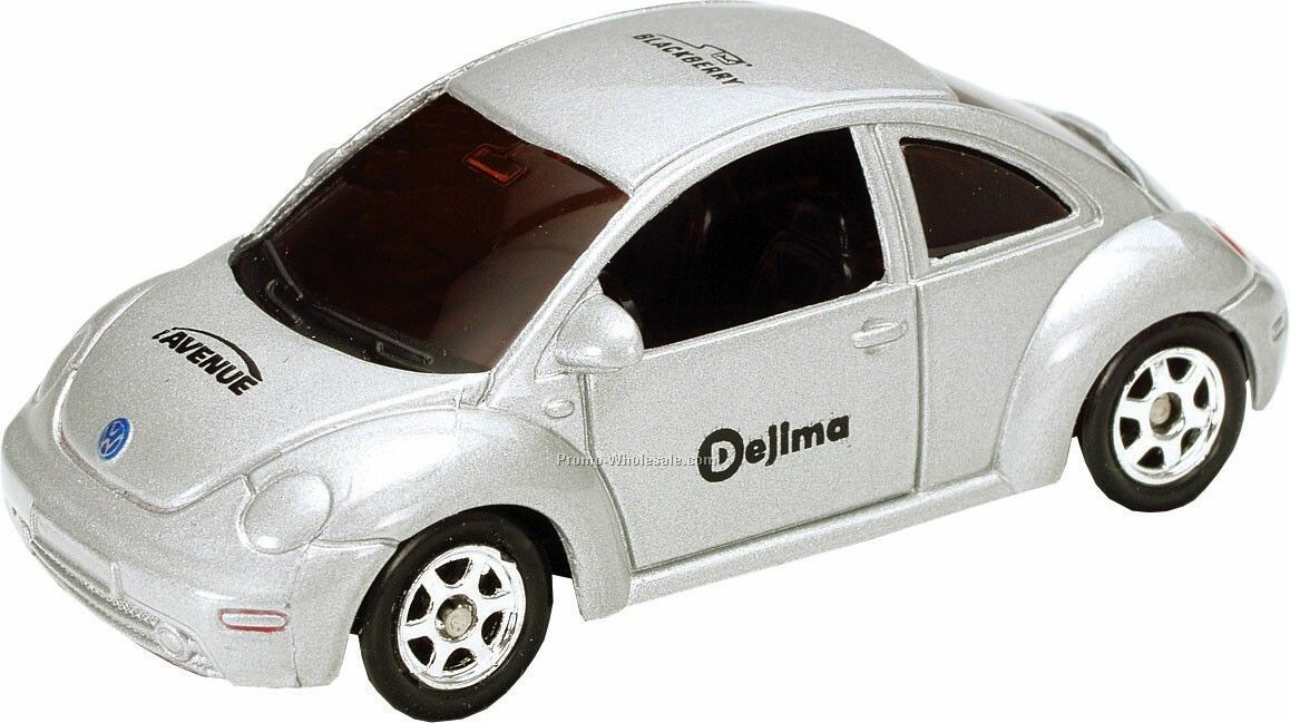 Silver New Beetle Die Cast Mini Vehicles