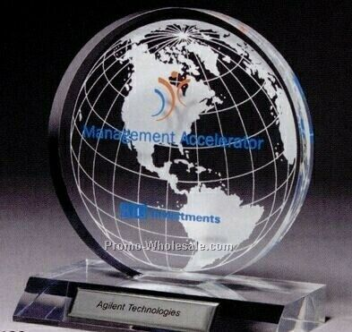 Small Clear Globe Award (Screen Printed)