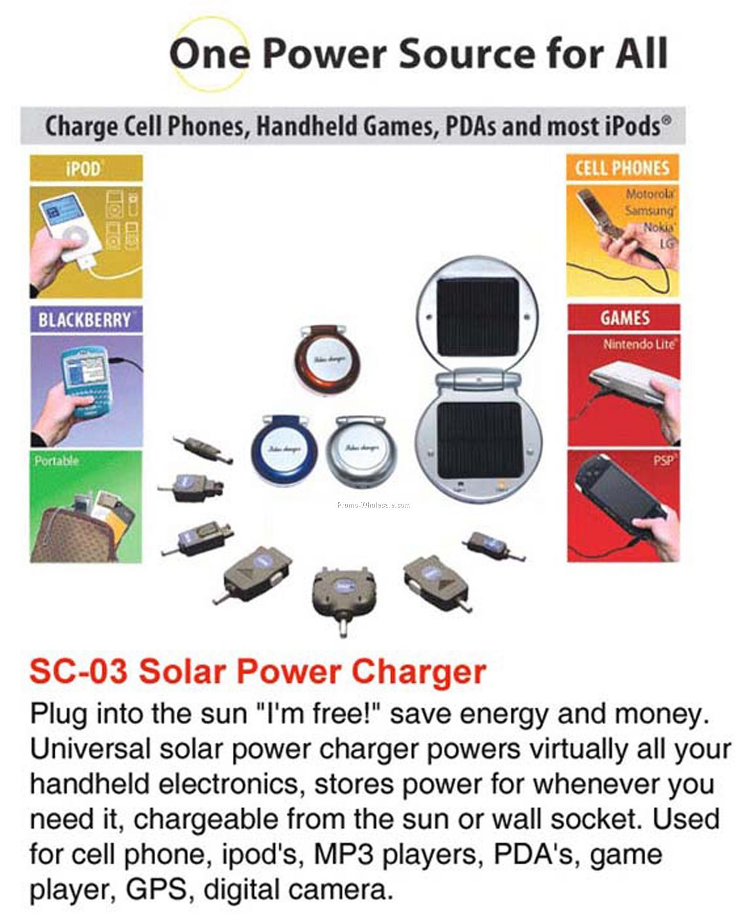 Solar Charger, Solar Flashlight