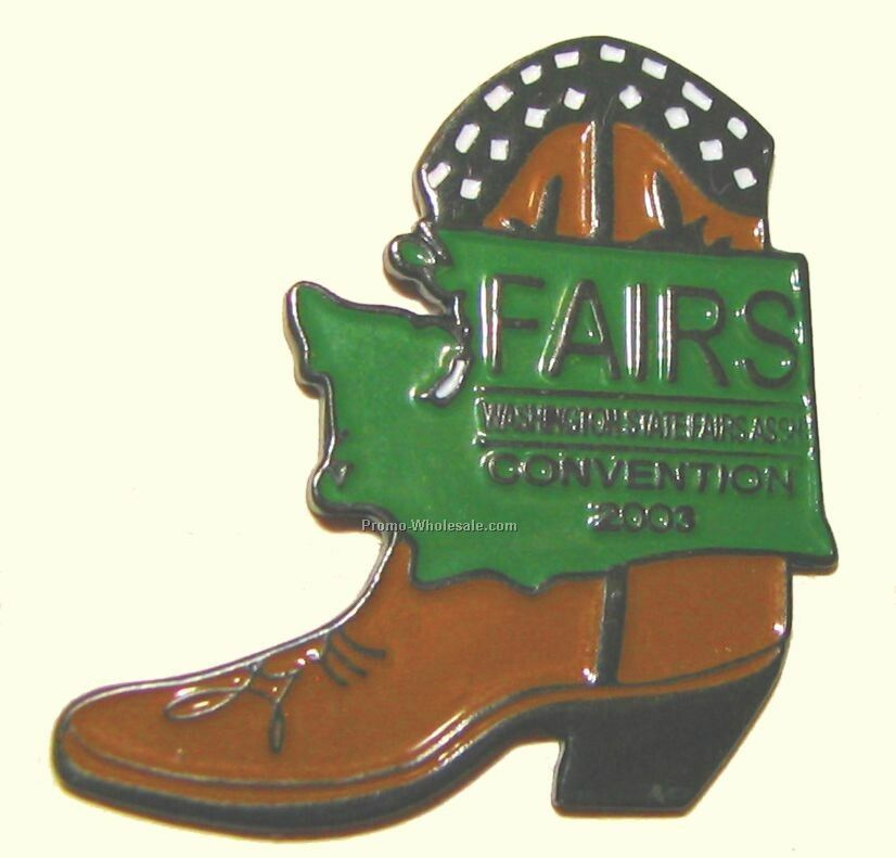 "Stamped Soft Enamel Pin - Iron (3/4"")"