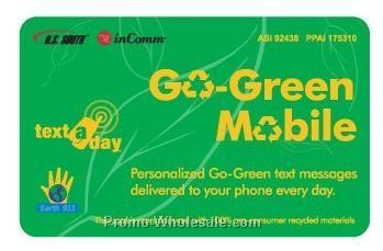 Text-a-day Go Green Mobile Card