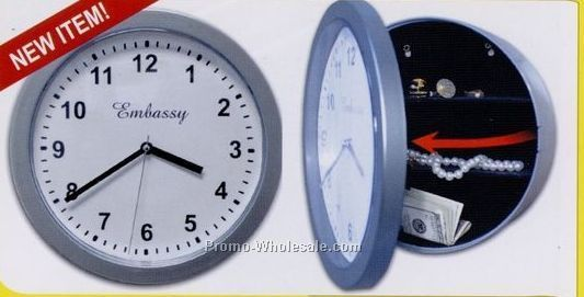 U.s. Patrol Wall Clock W/ Hidden Safe