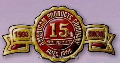 "2-1/2""x1-1/4"" Silver Fossler Embossed Foil Anniversary Seal"
