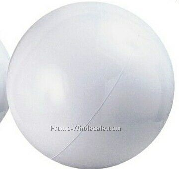 "24"" Inflatable Solid White Beach Ball"