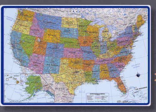 Padschina wholesale padspage116 25 12x17 world map desk pad with americas centered gumiabroncs Image collections
