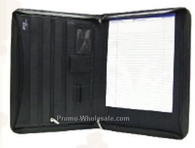 29-1/2cmx41cmx3cm Black Legal Size Zippered Writing Case