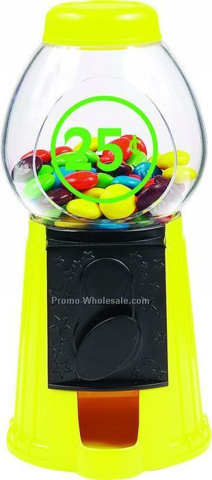 "3-1/2""x3-1/2""x6"" Purple Gumball- Candy Dispenser Machine"