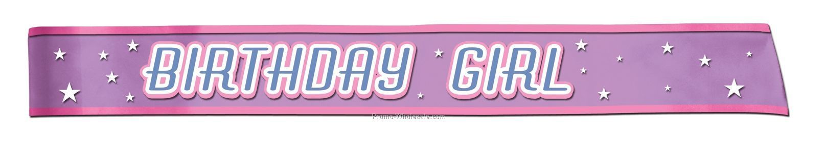 "33""x4"" Birthday Girl Sash"