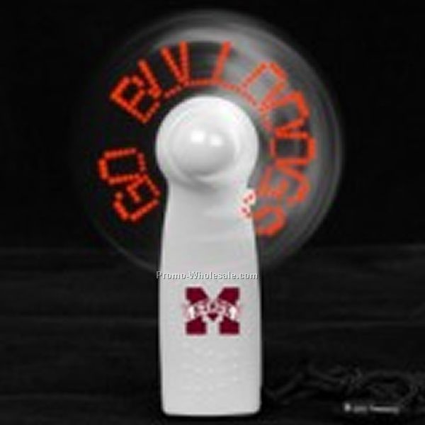 "4"" LED Message Fan (Self Programmable) - White Body/ Red LED"